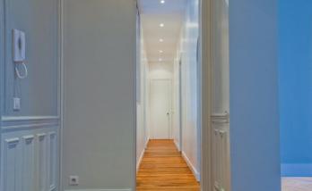 Rénovation d'un couloir à Boulogne