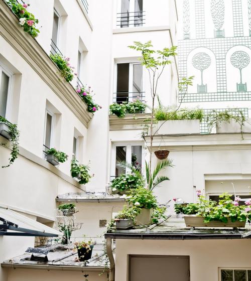 Rénovation de la façade intérieur d'un immeuble à Boulogne