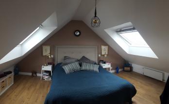 Rénovation d'une chambre dans des combles à Saint-Cloud