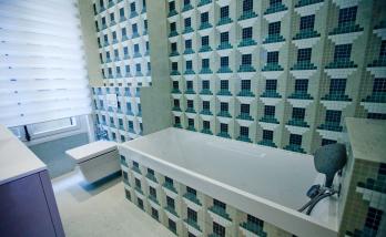 Rénovation d'une salle de bain en mosaïque Bisazza