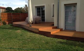 Construction d'une terrasse en bois à Boulogne